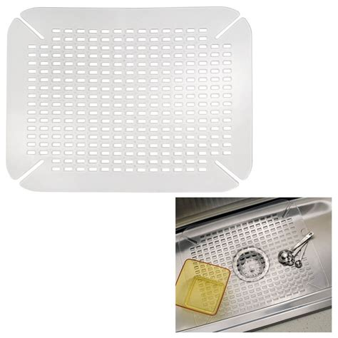 kitchen sink mat adjustable contour size clear ebay