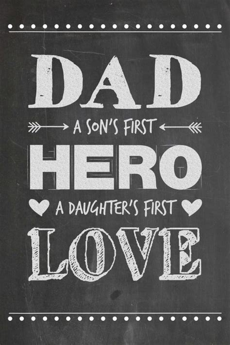 printable daddy quotes father s day chalkboard printable first love the father