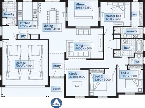 Single House Floor Plans Single Floor House Plans
