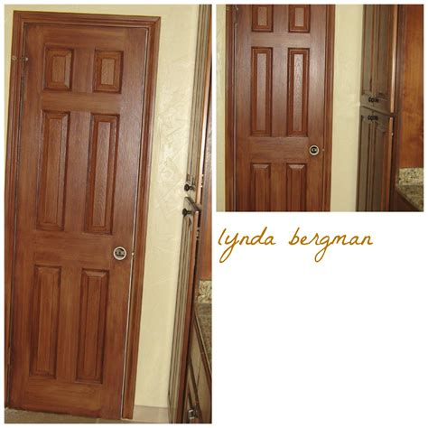 How To Stain Cabinet Doors Lynda Bergman Decorative Artisan Gel Staining White Doors To Match New Cherry Stained Cabinets