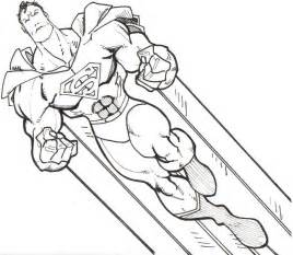 coloring page superman download