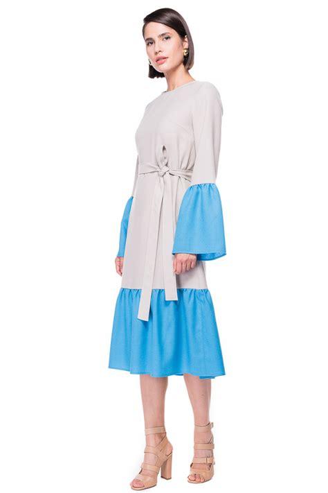 Ab Studio Twotone Dress two tone ruffled wool dress chemistry studio 169