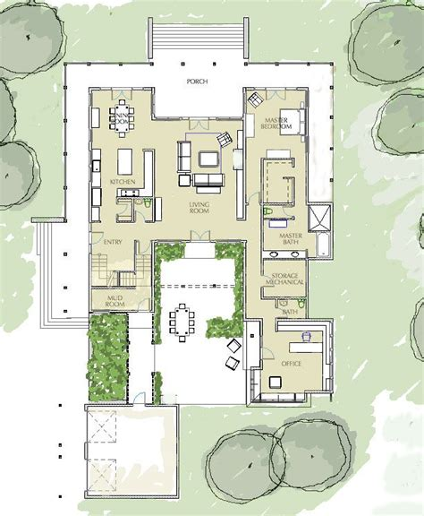 1000 ideas about courtyard house plans on