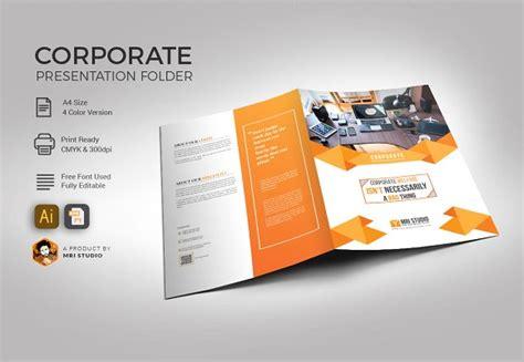 Corporate Folder Template Stationery Templates Creative Market Folder Design Template