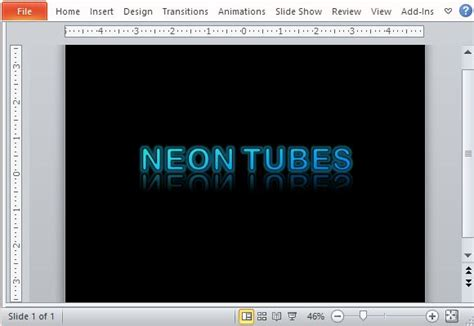 microsoft powerpoint layout text effects new powerpoint template with glowing neon text effect