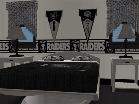 raiders bedroom mod the sims oakland raiders bedroom requested