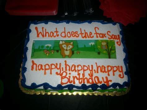 fox  birthday cake themed parties  gift ideas pinterest cakes