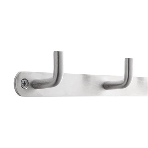stainless steel deco hook racks  container store