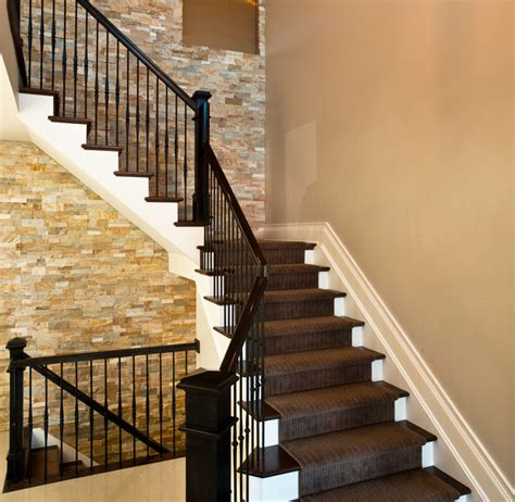 Outdoor Metal Handrails For Stairs Stacked Stone Stairs Contemporary Staircase Denver