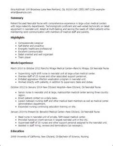 Nicu Resume Description Professional Neonatal Templates To Showcase Your Talent Myperfectresume