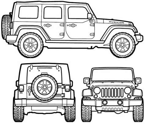jeep rubicon coloring pages jeep wrangler unlimited 2007 voor kamer boet kids