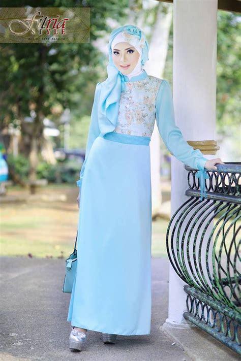 Gamis Jersey Polos Zema Biru Muda Sale khalsha biru muda baju muslim gamis modern