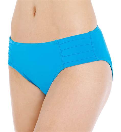 tommy bahama pearl solids pleated hipster swim bottom tsw64613b   tommy bahama swimwear
