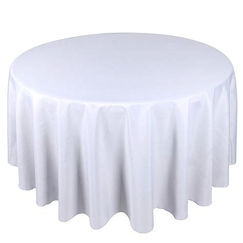 white table linens clearance 120 inch tablecloth white polyester