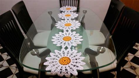 margaritas en camino de mesa en crochet youtube