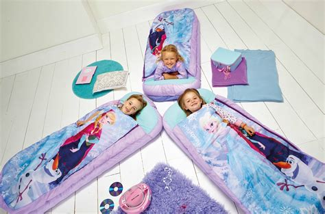 sleepover beds disney frozen bed junior ready sleeping bag readybed kids