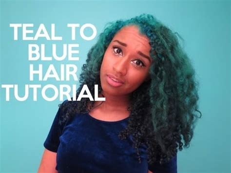 teal fine hair vigina teal to blue ombre hair tutorial offbeatlook youtube