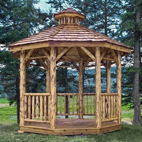 buro ilocano log gazebo log wood gazebo log octagon gazebo kit