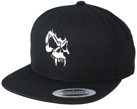snap backs and tattoos angry skull black snapback collective caps