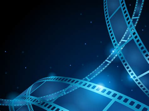 old camera recreation powerpoint templates blue movie film strip ppt backgrounds dark images