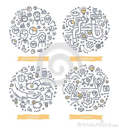 start doodle startup doodle illustrations stock vector image 77727234