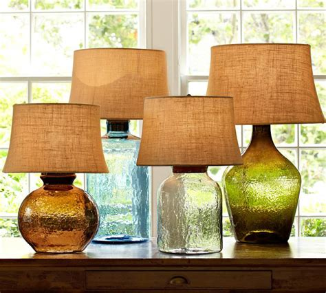 from pottery barn colored glass table ls from pottery barn clift collection