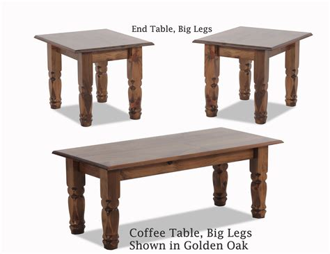 Coffee End Tables Coffee End Tables Big Legs Golden Oak