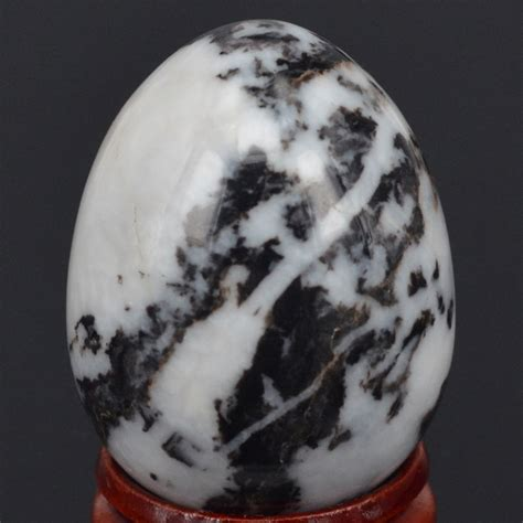 xmm natural gemstone black white zebra sphere egg