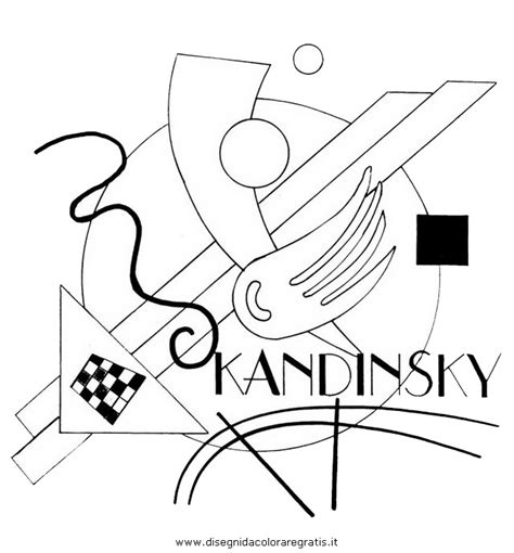 kandinsky colouring pages