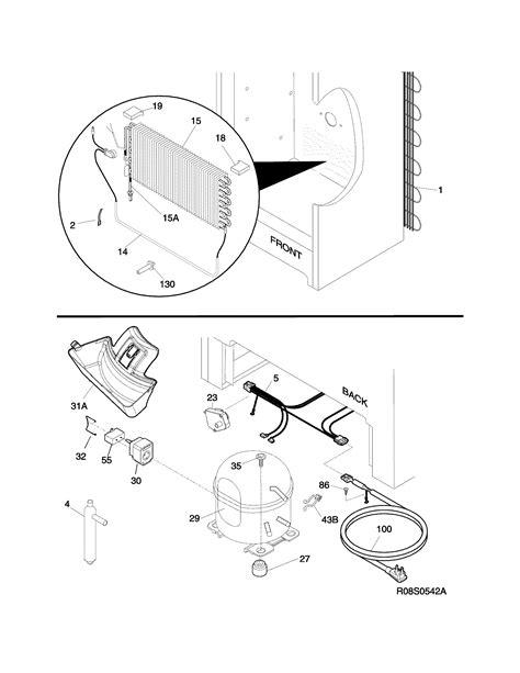 Frigidaire model LFFH17F3QWA upright freezer genuine parts