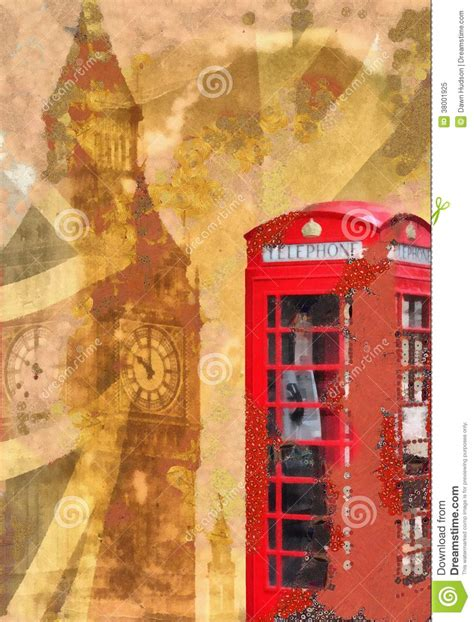 shabby chic london collage royalty free stock photo