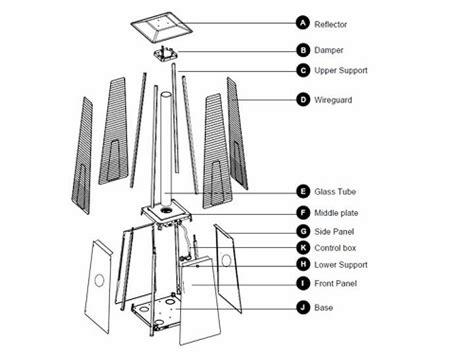 az patio heater parts hiland residential quartz glass replacement 49 5
