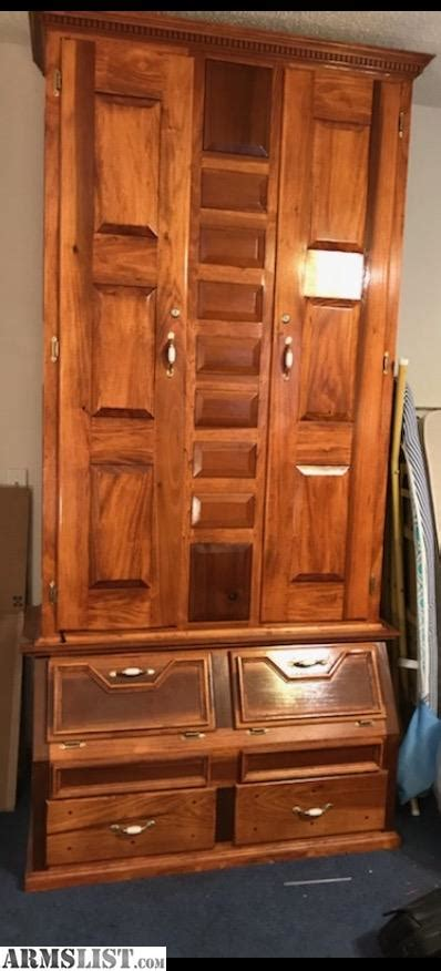 solid wood gun cabinet armslist for sale handmade solid wood gun cabinet