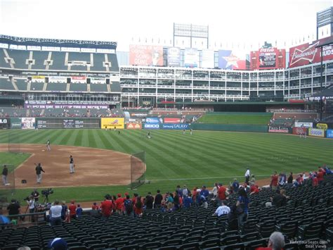 rangers sections globe life park section 34 rateyourseats com