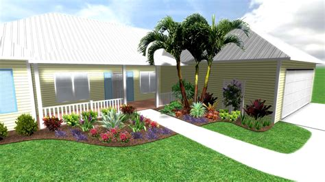 Tropical Front Garden Ideas Tropical Garden Design Front Yard Izvipicom