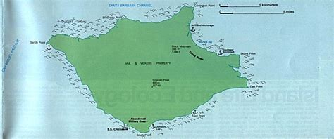 maps of santa rosa island map channel islands national