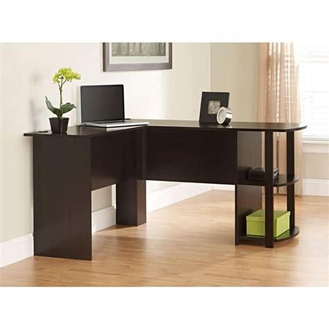 home depot l shaped desk ameriwood l shaped desk in espresso 9354303pcom the home