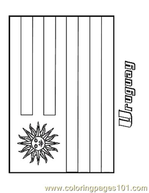 coloring pages uruguay education gt flags free