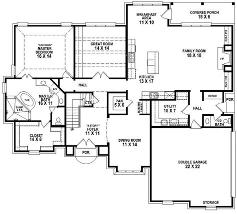 653906 Beautiful 4 Bedroom 3 5 Bath House Plan With Views Of The Backyard House