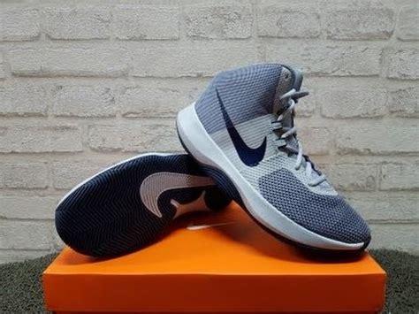 sepatu basket nike air precision grey