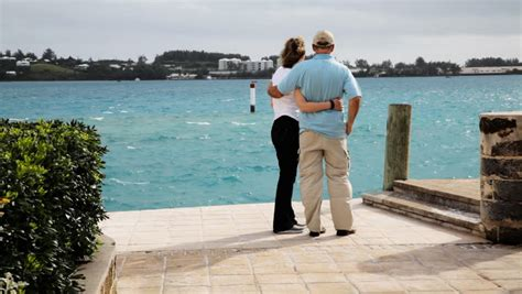 Vacations For Married Couples Rear View Of Happy And Walking Together At