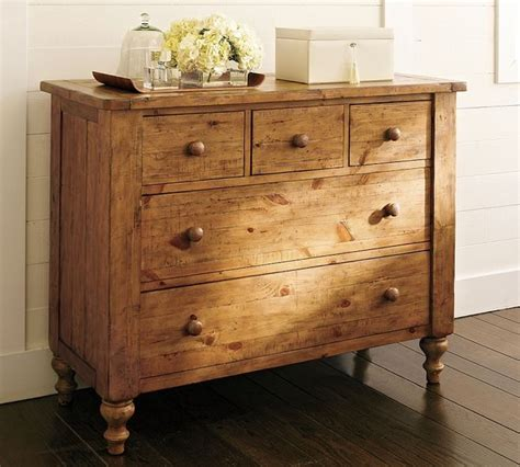 rustic bedroom dressers pottery barn ashby dresser in rustic pine
