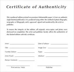 Certificate Of Authenticity Photography Template 6 Certificate Of Authenticity Templates Website