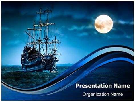 Pirate Ship Powerpoint Template Background Subscriptiontemplates Com Pirate Powerpoint Template
