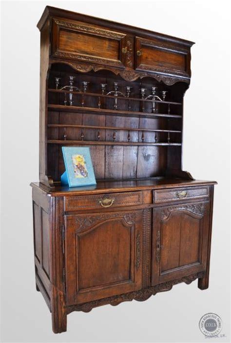 Vintage Kitchen Buffet Cabinet Antique Oak Walnut Country Dresser Kitchen Buffet