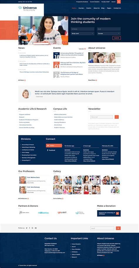 university website templates 22 best university website templates psd free download