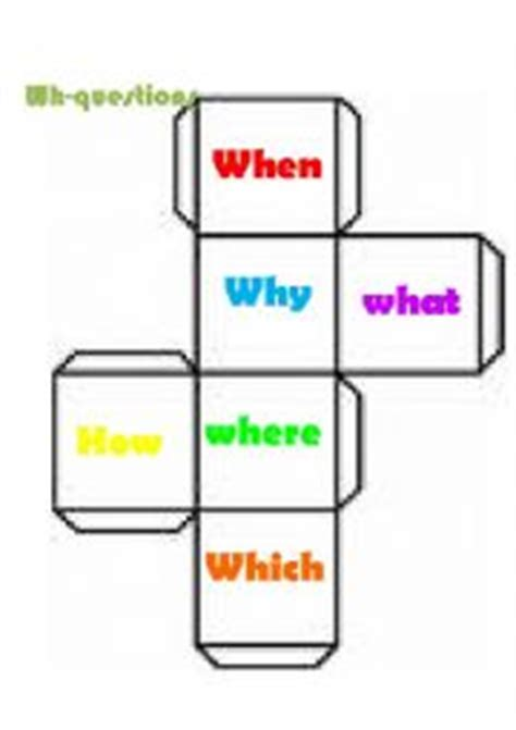 Printable Question Dice | english worksheets wh question dice