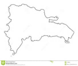 Republic Map Outline by Republic Outline Map Royalty Free Stock Photo