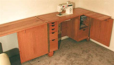 wood sewing machine cabinet plans woodproject