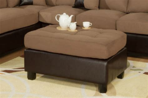 couches and ottomans poundex katja f7616 brown fabric sectional sofa and